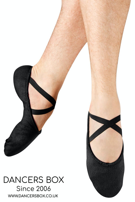 Black Mens Pump Canvas Ballet Shoes
